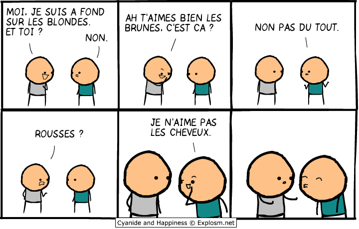 bisous cyanide chauves