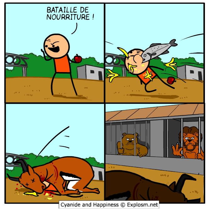 nourriture bataille cyanide