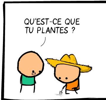 Qu'est-ce que tu plantes ?