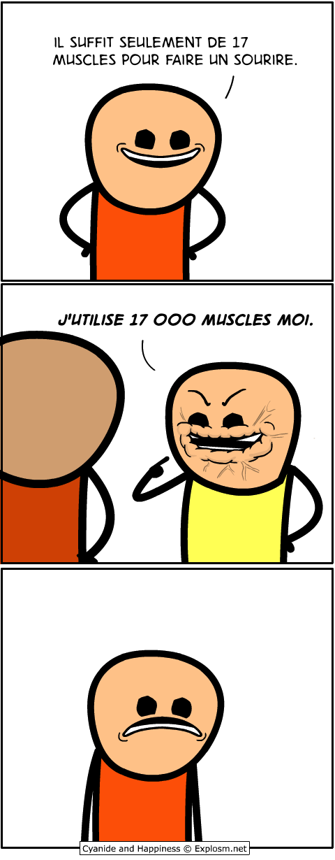 muscles sourire cyanide