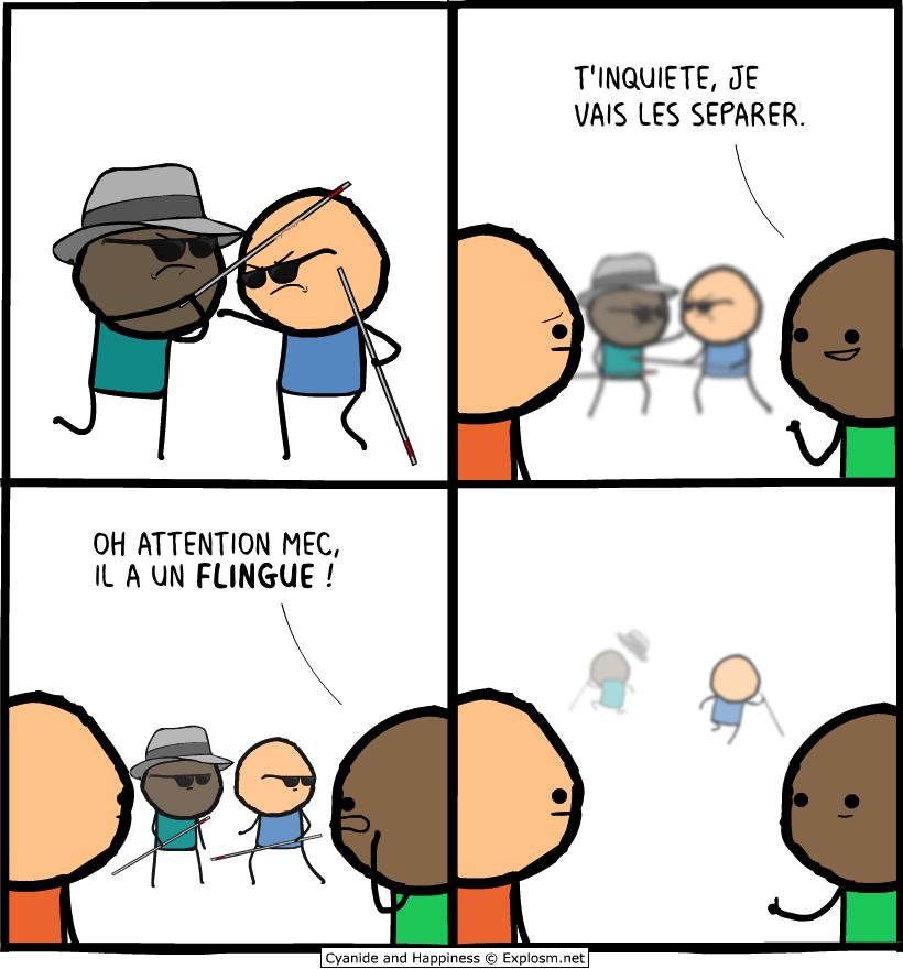 aveugle bagarre cyanide