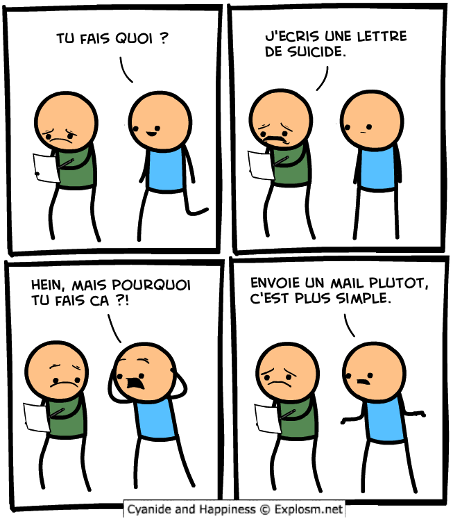 suicide mail cyanide