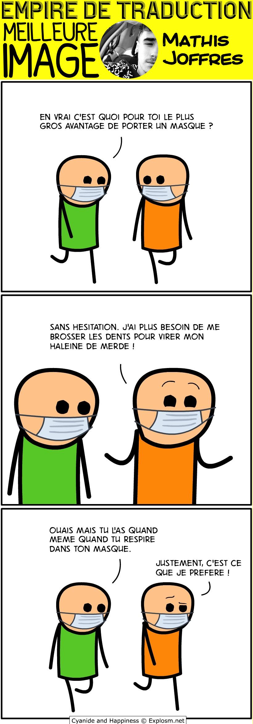 masque nez cyanide