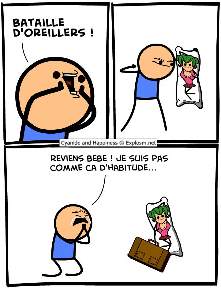 bataille oreiller cyanide